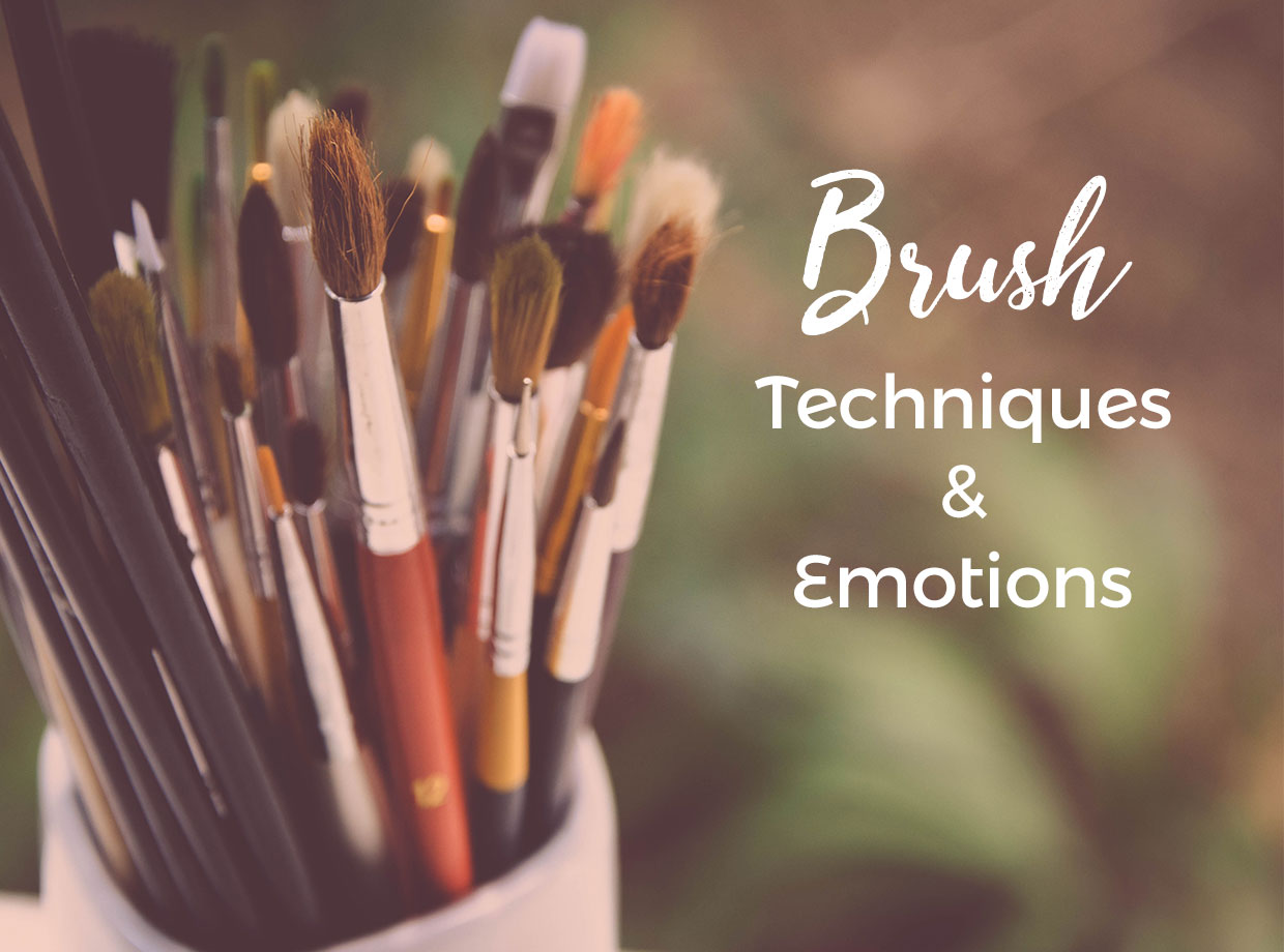 Brush Techniques & Emotions - by Uno Lona Academy for art education